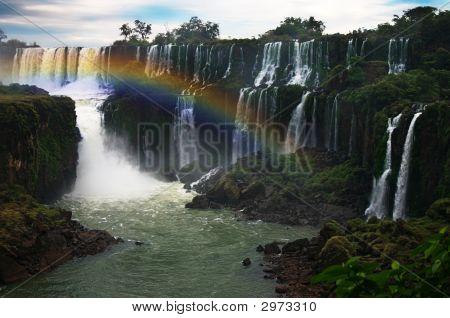 Rainbow Over Iguassu Falls