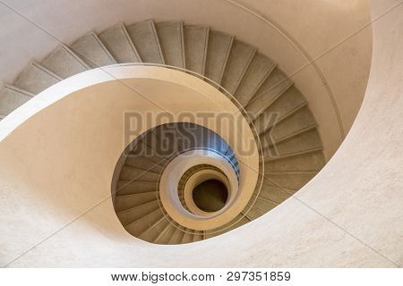 An image of a typical modern stone staircase