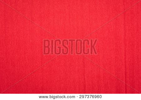 red crepe paper - background with crinkled texture poster
