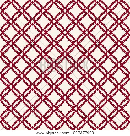 Grid Pattern. Vector Abstract Geometric Seamless Texture With Square Mesh, Net, Lattice, Diagonal Cr