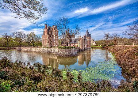 Loire Valley, France - April 15, 2019: Chateau Du Moulin In Lassay-sur-croisne, Loire Valley, France