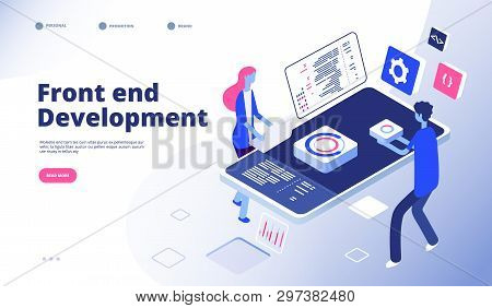 Front End Development. Programmer Develop Computer Website Interface Front-end Graphics Engineering