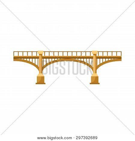 Highway Bridge Vector Illustration. River, Railway, City. Bridges Concept. Vector Illustration Can B