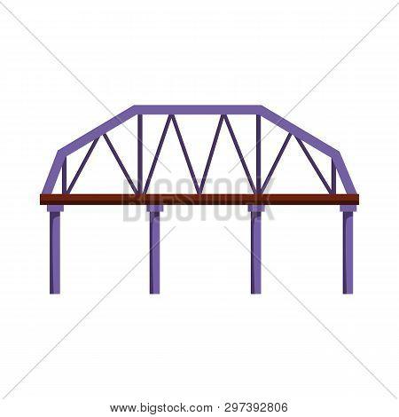 Railroad Bridge Vector Illustration. Overpass, City, Landmark. Bridges Concept. Vector Illustration