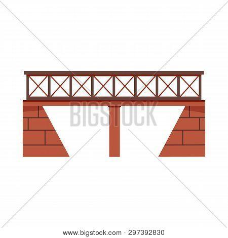 Railway Bridge Vector Illustration. Overpass, Train Bridge, Traffic. Bridges Concept. Vector Illustr