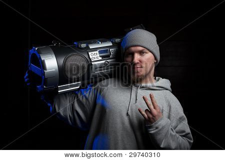 Man With Boombox