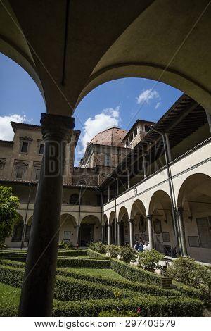 Cloister Garden Of The Basilica Di San Lorenzo, Florence, Italy - 23rd May 2016