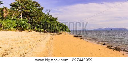 Panorama View Of Yao Noi Islands, Phang-nga Province, The South Of Thailand. It Is Very Calm Islands