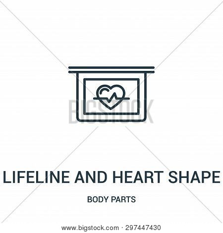 lifeline and heart shape on a graphic icon isolated on white background from body parts collection. lifeline and heart shape on a graphic icon trendy and modern lifeline and heart shape on a graphic symbol for logo, web, app, UI. lifeline and heart shape  poster