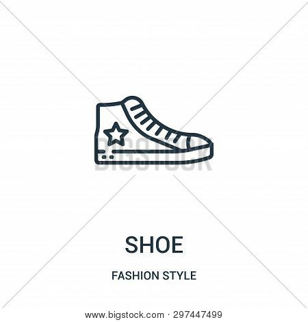 Shoe Icon Isolated On White Background From Fashion Style Collection. Shoe Icon Trendy And Modern Sh