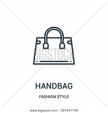 Handbag Icon Isolated On White Background From Fashion Style Collection. Handbag Icon Trendy And Mod