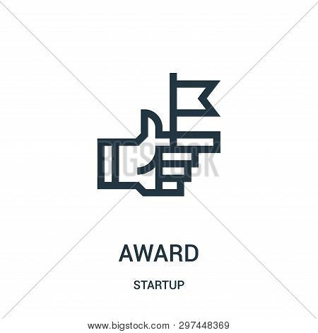 Award Icon Isolated On White Background From Startup Collection. Award Icon Trendy And Modern Award