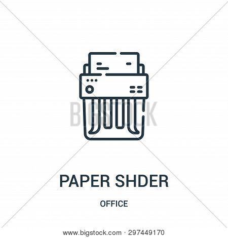 Paper Shredder Icon Isolated On White Background From Office Collection. Paper Shredder Icon Trendy