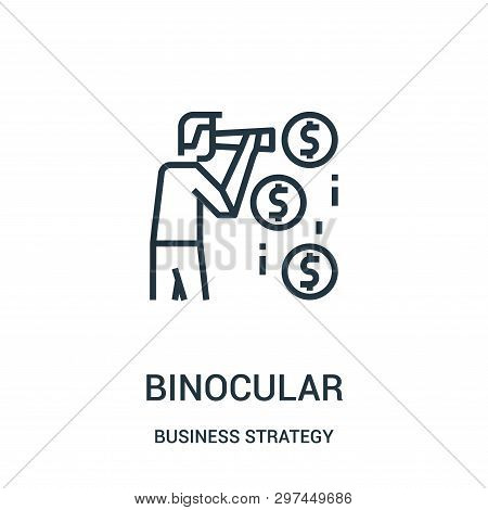 Binocular Icon Isolated On White Background From Business Strategy Collection. Binocular Icon Trendy
