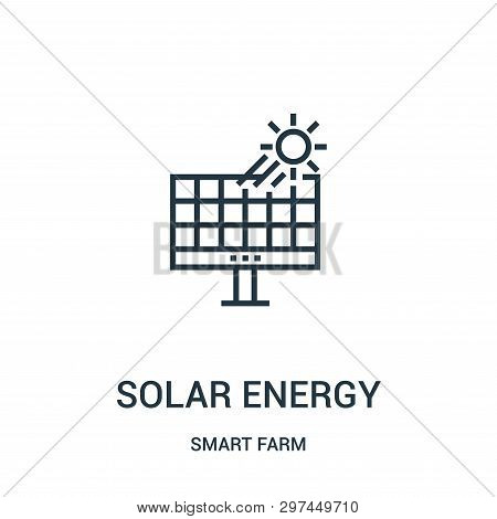 Solar Energy Icon Isolated On White Background From Smart Farm Collection. Solar Energy Icon Trendy