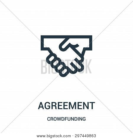 Agreement Icon Isolated On White Background From Crowdfunding Collection. Agreement Icon Trendy And