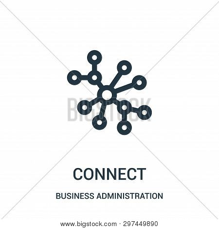 Connect Icon Isolated On White Background From Business Administration Collection. Connect Icon Tren