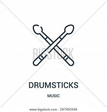 Drumsticks Icon Isolated On White Background From Music Collection. Drumsticks Icon Trendy And Moder