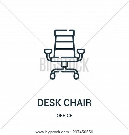 Desk Chair Icon Isolated On White Background From Office Collection. Desk Chair Icon Trendy And Mode