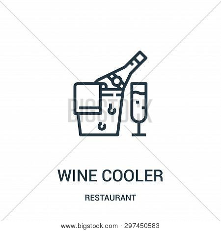 Wine Cooler Icon Isolated On White Background From Restaurant Collection. Wine Cooler Icon Trendy An