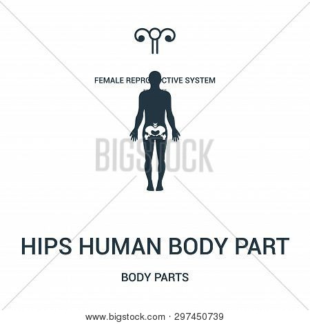 Hips Human Body Part Icon Isolated On White Background From Body Parts Collection. Hips Human Body P