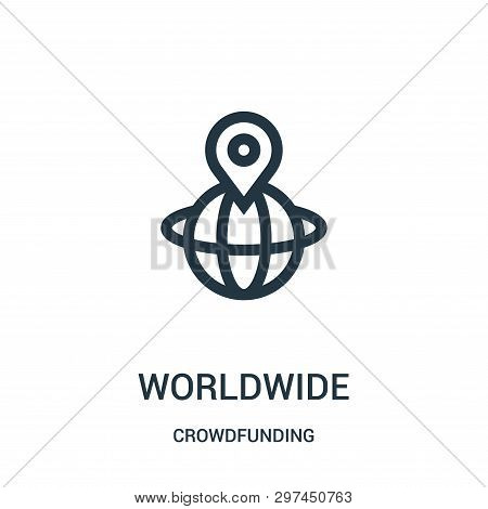 Worldwide Icon Isolated On White Background From Crowdfunding Collection. Worldwide Icon Trendy And