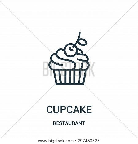 Cupcake Icon Isolated On White Background From Restaurant Collection. Cupcake Icon Trendy And Modern
