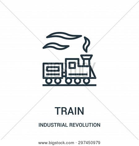 Train Icon Isolated On White Background From Industrial Revolution Collection. Train Icon Trendy And