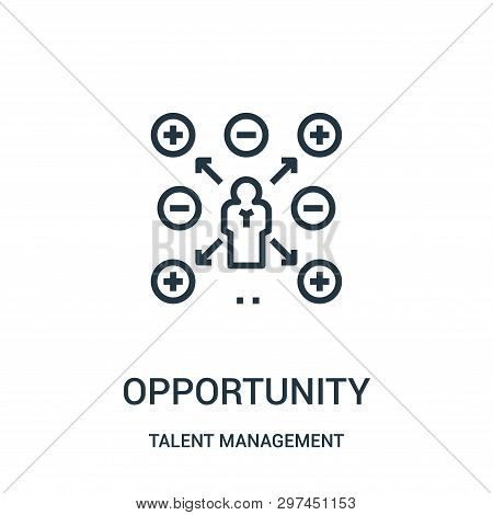 Opportunity Icon Isolated On White Background From Talent Management Collection. Opportunity Icon Tr