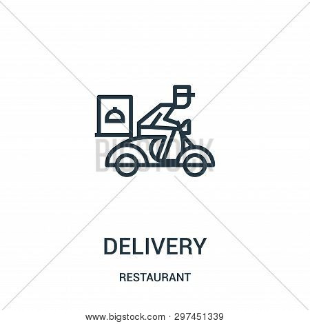 Delivery Icon Isolated On White Background From Restaurant Collection. Delivery Icon Trendy And Mode