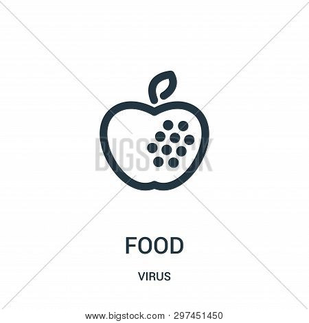 Food Icon Isolated On White Background From Virus Collection. Food Icon Trendy And Modern Food Symbo