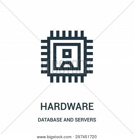 Hardware Icon Isolated On White Background From Database And Servers Collection. Hardware Icon Trend