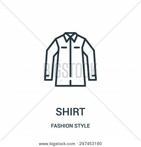 Shirt Icon Isolated On White Background From Fashion Style Collection. Shirt Icon Trendy And Modern