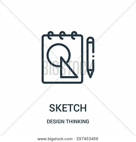Sketch Icon Isolated On White Background From Design Thinking Collection. Sketch Icon Trendy And Mod