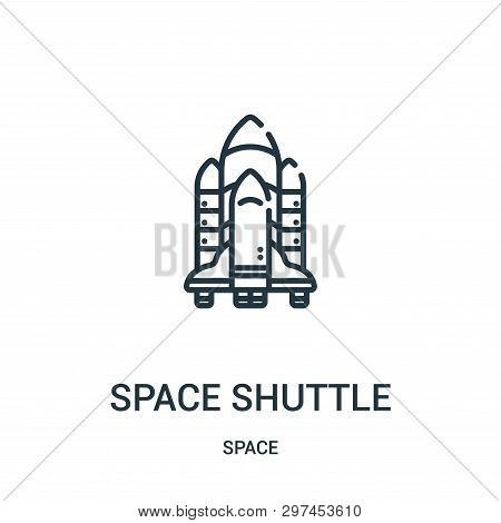 Space Shuttle Icon Isolated On White Background From Space Collection. Space Shuttle Icon Trendy And