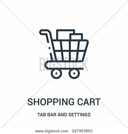 Shopping Cart Icon Isolated On White Background From Tab Bar And Settings Collection. Shopping Cart