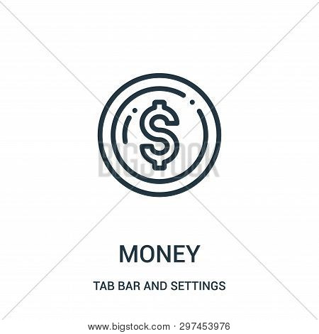 Money Icon Isolated On White Background From Tab Bar And Settings Collection. Money Icon Trendy And