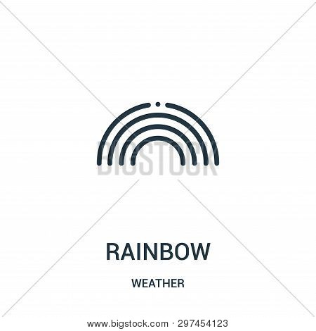 Rainbow Icon Isolated On White Background From Weather Collection. Rainbow Icon Trendy And Modern Ra