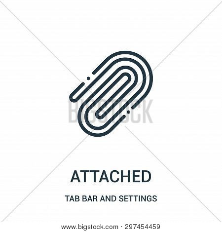 Attached Icon Isolated On White Background From Tab Bar And Settings Collection. Attached Icon Trend
