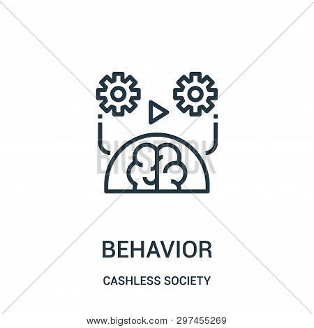 Behavior Icon Isolated On White Background From Cashless Society Collection. Behavior Icon Trendy An