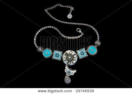 Rhodium coated necklace