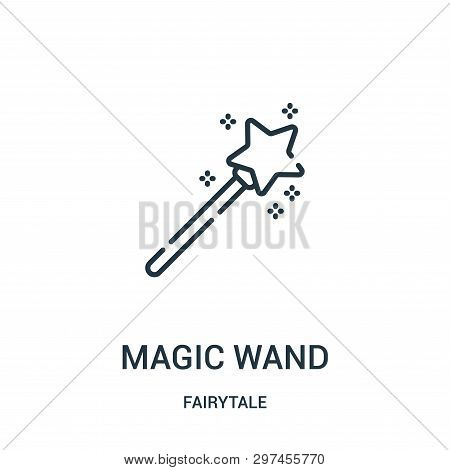 Magic Wand Icon Isolated On White Background From Fairytale Collection. Magic Wand Icon Trendy And M