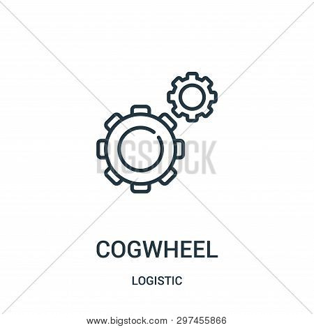 Cogwheel Icon Isolated On White Background From Logistic Collection. Cogwheel Icon Trendy And Modern