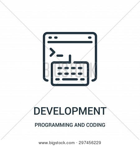 Development Icon Isolated On White Background From Programming And Coding Collection. Development Ic