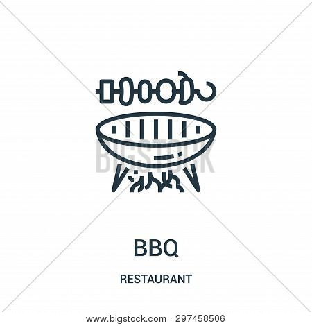 Bbq Icon Isolated On White Background From Restaurant Collection. Bbq Icon Trendy And Modern Bbq Sym