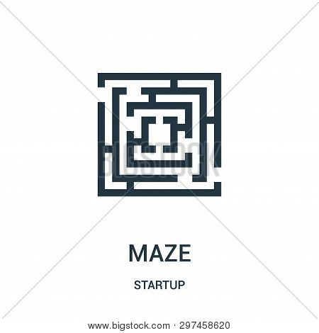 Maze Icon Isolated On White Background From Startup Collection. Maze Icon Trendy And Modern Maze Sym