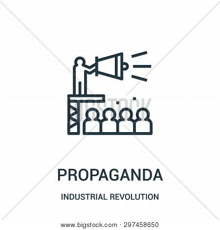 Propaganda Icon Isolated On White Background From Industrial Revolution Collection. Propaganda Icon