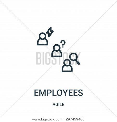 Employees Icon Isolated On White Background From Agile Collection. Employees Icon Trendy And Modern
