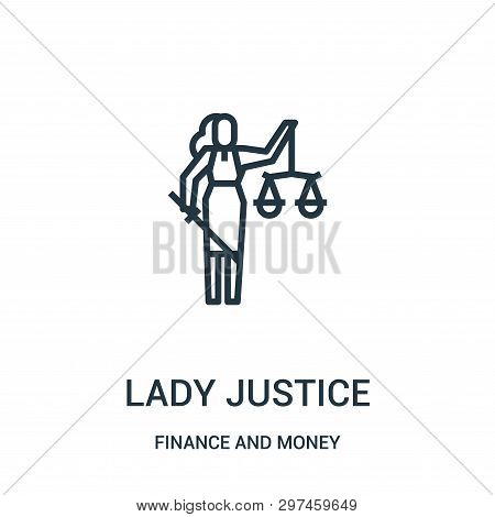 Lady Justice Icon Isolated On White Background From Finance And Money Collection. Lady Justice Icon