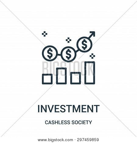poster of investment icon isolated on white background from cashless society collection. investment icon trendy and modern investment symbol for logo, web, app, UI. investment icon simple sign. investment icon flat vector illustration for graphic and web design.